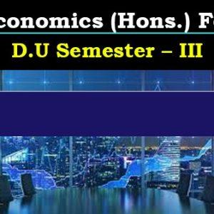 Economics (Hons.) For D.U_Semester – III